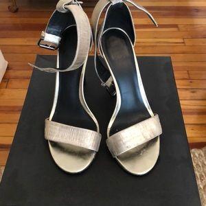 Tibi Gold Heeled Sandal